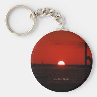 Puesta del sol de Key West Llavero Redondo Tipo Pin
