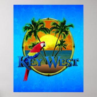 Puesta del sol de Key West Impresiones