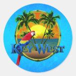 Puesta del sol de Key West Pegatina Redonda