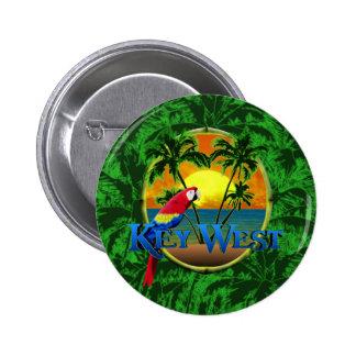 Puesta del sol de Key West Pin Redondo 5 Cm