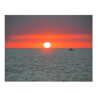 Puesta del sol de Key West Postales