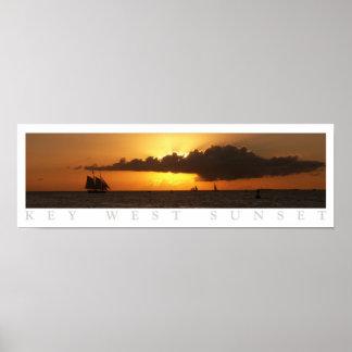 Puesta del sol de Key West Póster