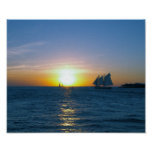 Puesta del sol de Key West Posters