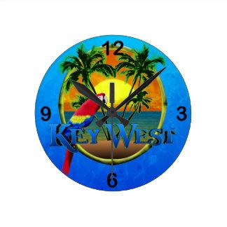 Puesta del sol de Key West Reloj Redondo Mediano