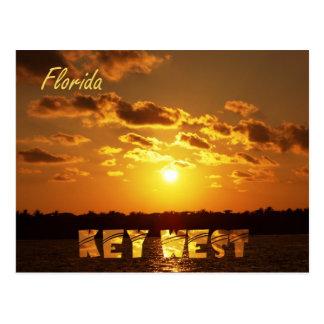 Puesta del sol de Key West Tarjeta Postal