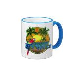 Puesta del sol de Key West Taza A Dos Colores