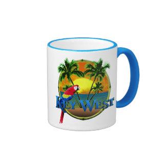 Puesta del sol de Key West Taza De Dos Colores