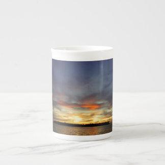 Puesta del sol de Key West Taza De Porcelana