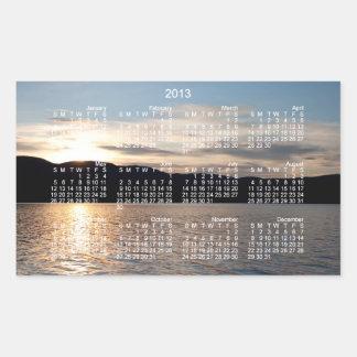 Puesta del sol de Kinaskan Calendario 2013 Rectangular Altavoces