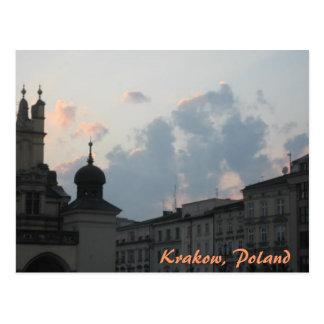 Puesta del sol de Kraków Tarjetas Postales