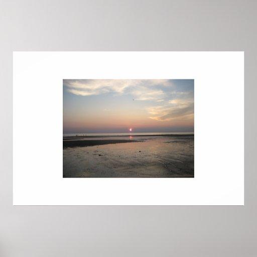 Puesta del sol de la bahía de Delaware Impresiones