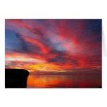 Puesta del sol de la bahía de Ellison Felicitacion
