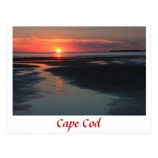 Puesta del sol de la bahía de Wellfleet, Cape Cod Postales