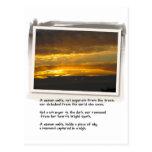 Puesta del sol de la bahía del poema y del abedul  postales