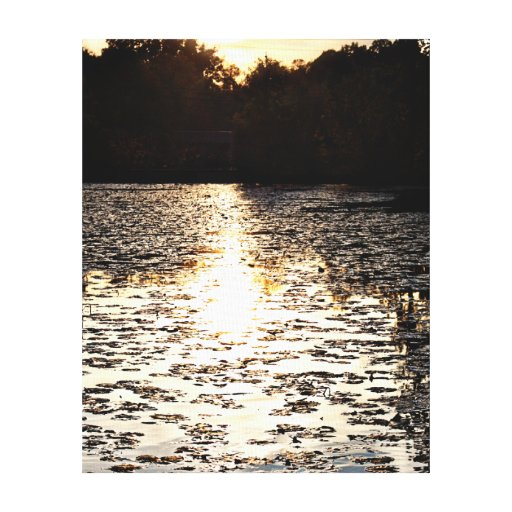 Puesta del sol de la caída de Michigan en la lona  Impresión En Lienzo Estirada