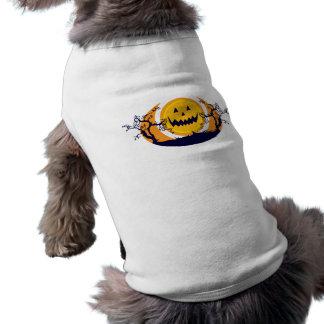 Puesta del sol de la calabaza camisa de perro
