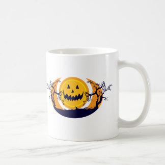 Puesta del sol de la calabaza taza de café