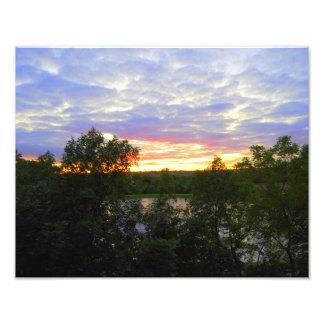 Puesta del sol de la charca de Stilwell (pulgadas Cojinete