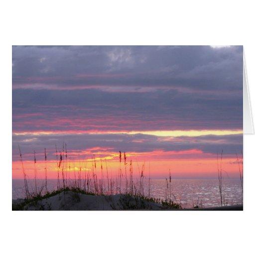 Puesta del sol de la condolencia tarjeta de felicitación