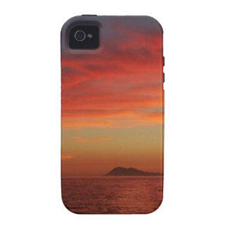Puesta del sol de la costa de España Case-Mate iPhone 4 Carcasa