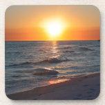 Puesta del sol de la Costa del Golfo de la Florida Posavasos De Bebida