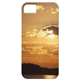 puesta del sol de la cubierta del iphone 5 sobre iPhone 5 fundas