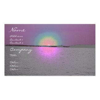 Puesta del sol de la fantasía - plantilla de la ta tarjetas de visita