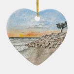 Puesta del sol de la Florida de la playa de Braden Adorno De Reyes