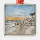 Puesta del sol de la Florida de la playa de Braden Ornamento De Reyes Magos
