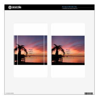Puesta del sol de la Florida del día de padre Kindle Fire Pegatina Skin