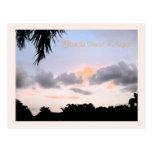 Puesta del sol de la Florida en agosto Postal