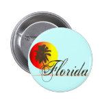Puesta del sol de la Florida Pin Redondo 5 Cm