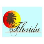 Puesta del sol de la Florida Postal