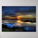 Puesta del sol de la Florida Poster