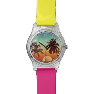 Puesta del sol de la Florida Reloj