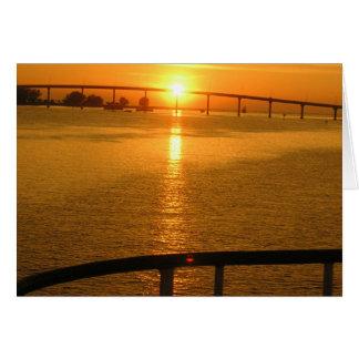 Puesta del sol de la Florida Tarjeta De Felicitación