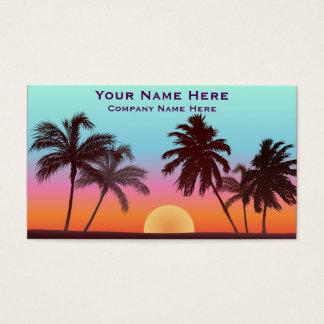 Puesta del sol de la Florida Tarjetas De Visita