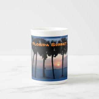 Puesta del sol de la Florida Taza De Porcelana