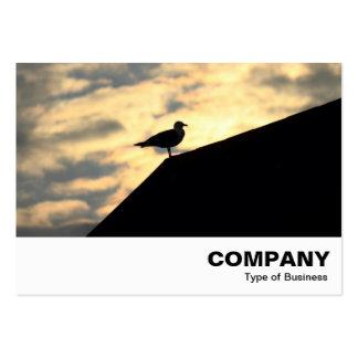 Puesta del sol de la gaviota de arenques tarjeta de visita