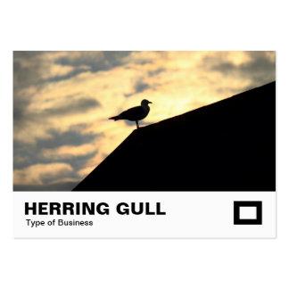 Puesta del sol de la gaviota de arenques tarjetas de visita