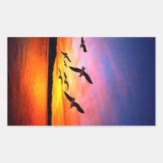Puesta del sol de la gaviota - gaviotas del vuelo rectangular altavoz