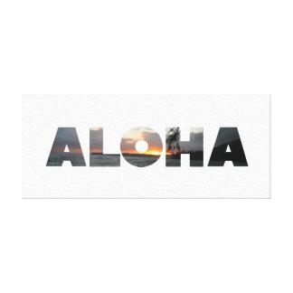 Puesta del sol de la hawaiana impresión de lienzo