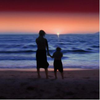 Puesta del sol de la hija de la madre