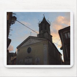 Puesta del sol de la iglesia de Laino Borgo Alfombrilla De Ratones