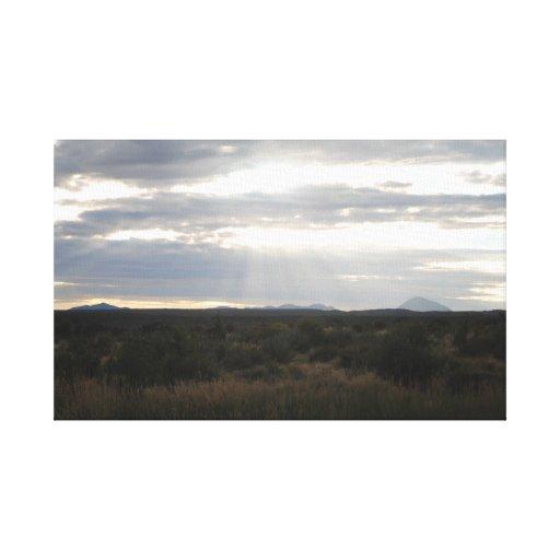 Puesta del sol de la impresión de la lona del ciel lona estirada galerias