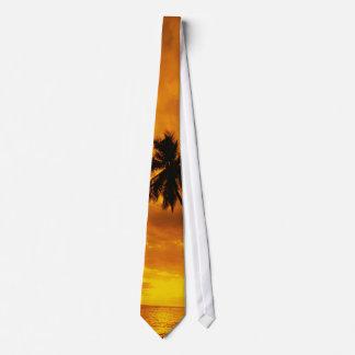 Puesta del sol de la isla corbata personalizada
