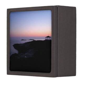 Puesta del sol de la isla de la estrella caja de recuerdo de calidad