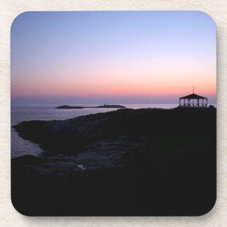 Puesta del sol de la isla de la estrella posavasos