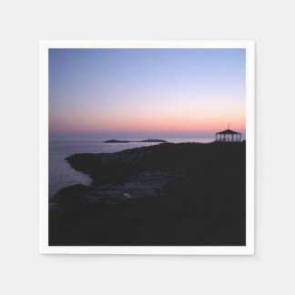 Puesta del sol de la isla de la estrella servilletas de papel
