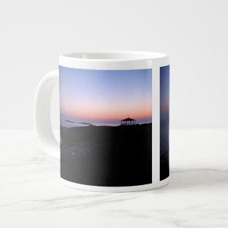 Puesta del sol de la isla de la estrella taza grande